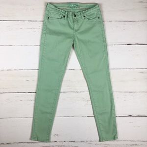 Lucky Brand Charlie Super Skinny Mint Green Jeans